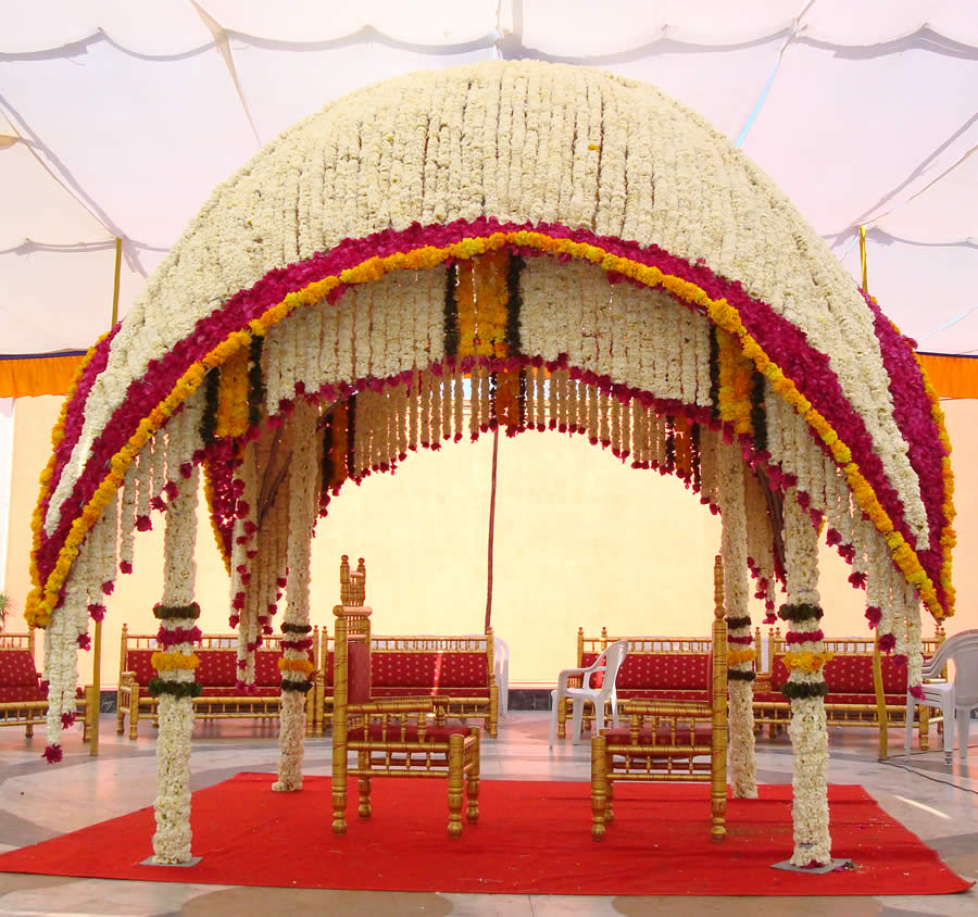 Unique Simple Hall Decoration Ideas: Photo Gallery Of Party Plot With Decoration